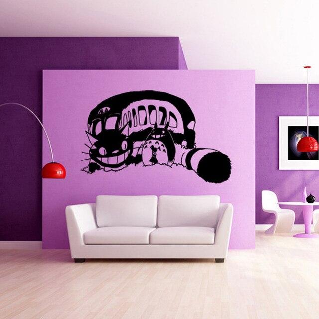 HUAIDE Japanese Cartoon Totoro Wall Stickers Creative Totoro Bus Wall Decal  Kids Room Living Room Home