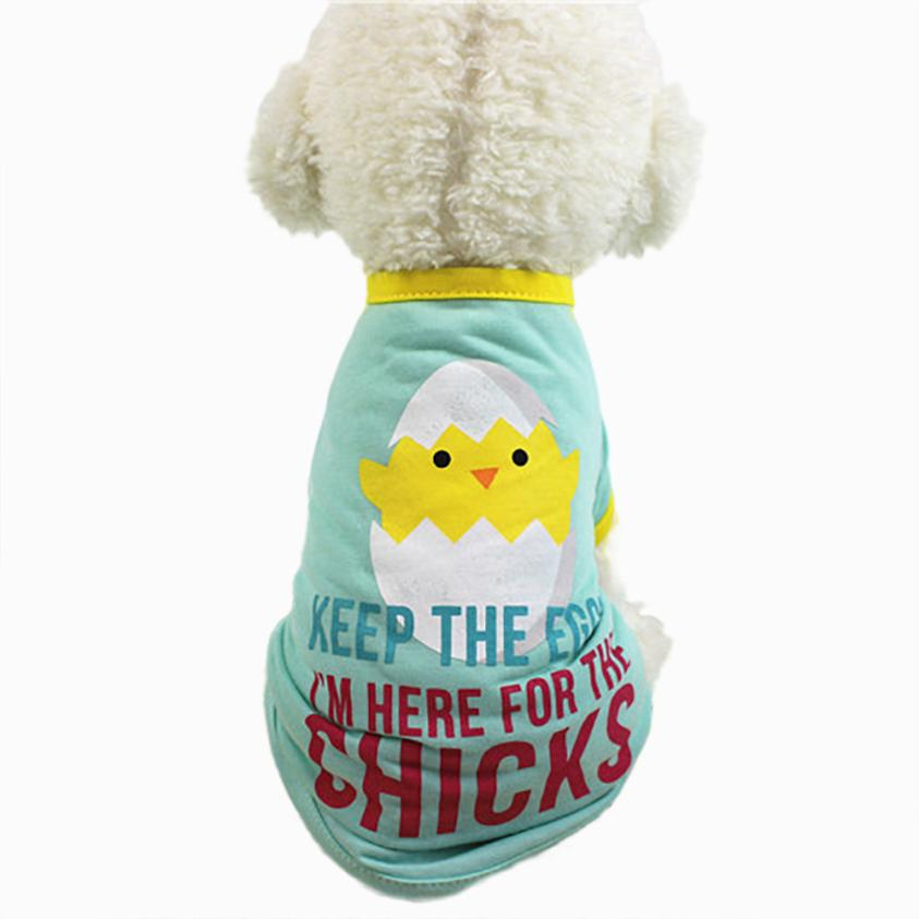 Transer Hot Sale Summer Cute Pet Dog Cat T-shirt Clothing Small Puppy Costume For Small Dog Dropshipping 18Mar22