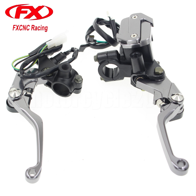FXCNC 7/8 22mm Universal Motocross Dirt Bike Brake Clutch Lever For Honda XR250 MOTARD 1995-2007 Pit bike Hydraulic Brake Lever