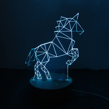 Unicorn Lamp 3D LED Creative Gifts Bedroom Study Atmosphere Night Light For Children Christmas Gift night lamp
