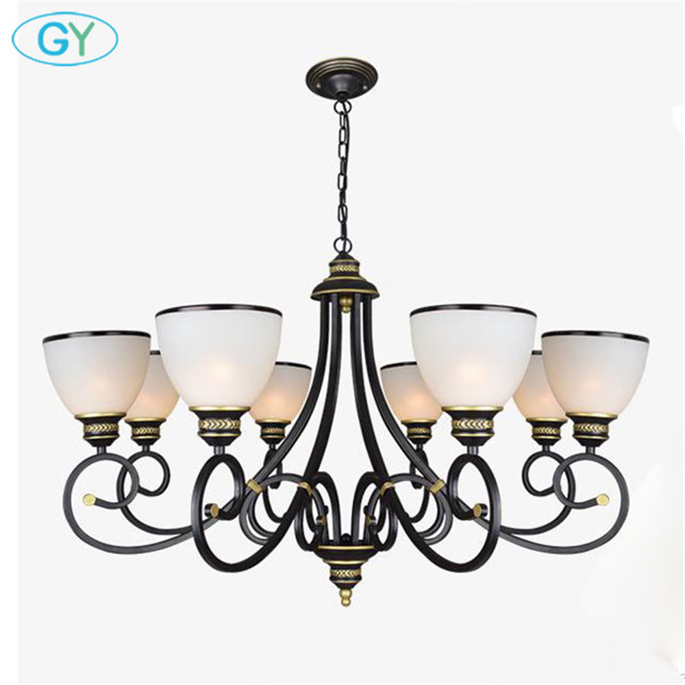 Vintage Europe Style white glass chandelier up light nordic 3 5 6 8 glass shade lamps industrial lustre for living room dining fumat parrots shape chandelier european vintage glass shade light dining room hanging lamp pendientes lustre light fixtures