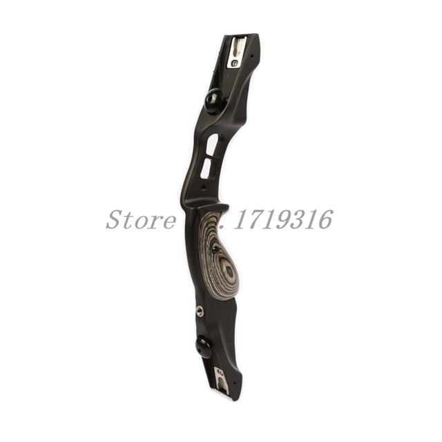 Livraison gratuite F161 noir arc Riser arc classique en bois adultes tir à l'arc chasse en plein air arc