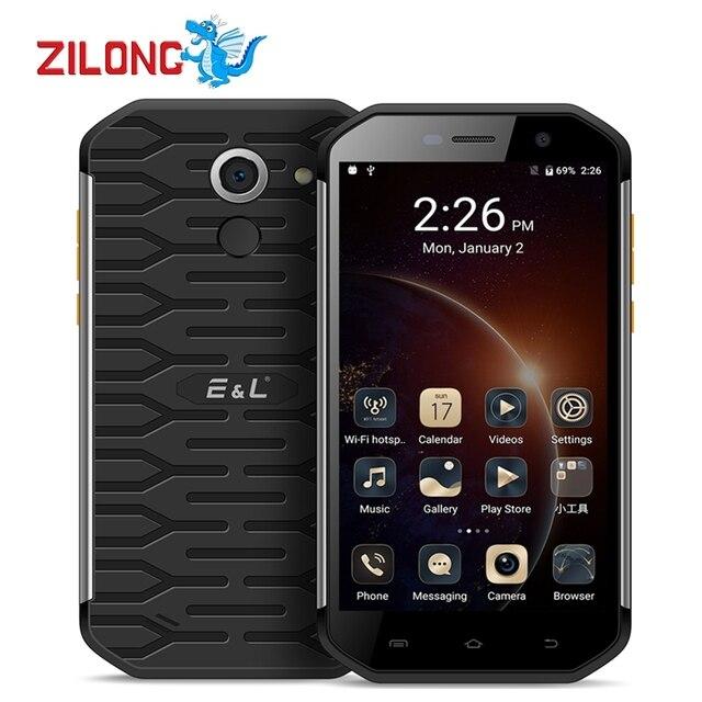 Original E&L S60 IP68 Waterproof 5.5 inch 4G LTE Mobile Phone Android 7.0 MTK6753 Octa Core 3GB RAM 64GB ROM 3000mAh Smartphone