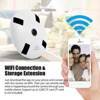 960P HD COMS Baby Monitor 360 Degree Panoramic WiFi Wireless Indoor Security Fisheye IP Camera AC