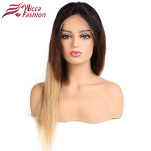 180% Density Ombre 1b/4/27 Full Lace Human Hair wigs Pre Plucked Straight Brazilian Remy Hair Wig With Baby Hair Dream Beauty