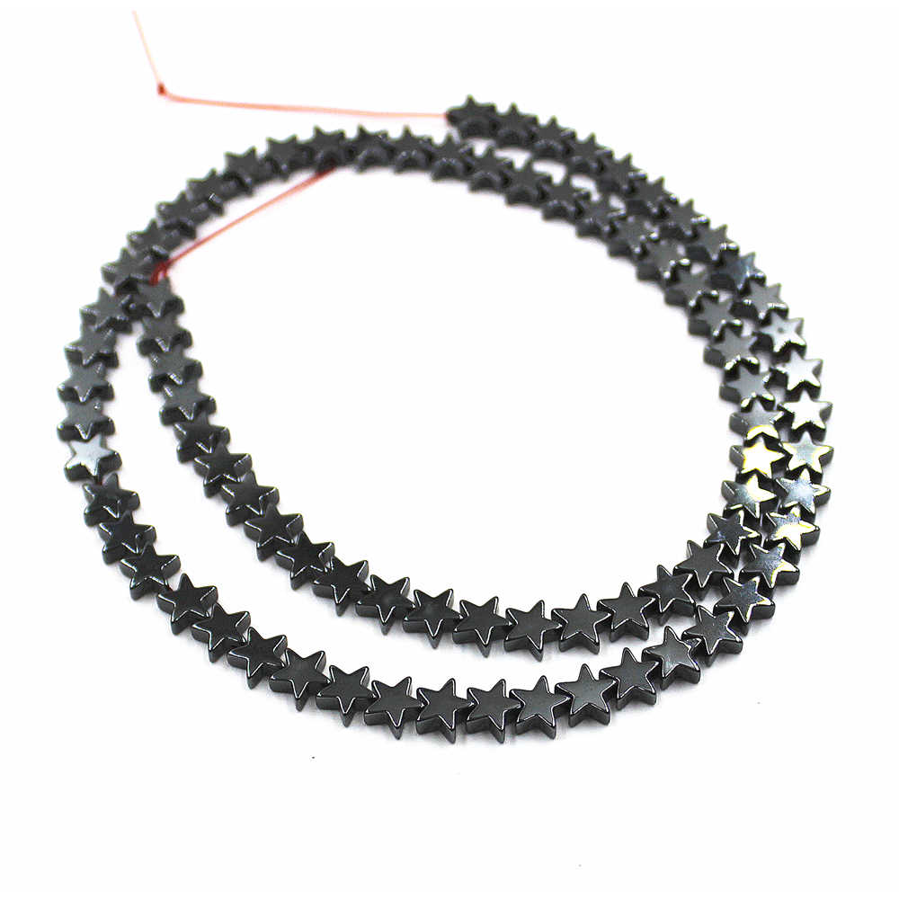 Natural  Star  Shape Hematite Beads  Hematite Stone Love star Loose Beads  Jewelry Making DIY Bracelet   30 PCS