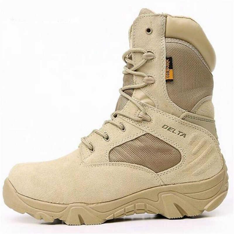 6f7fec5ad ... Для мужчин Delta военные тактические сапоги треккинговые ботинки  непромокаемые Путешествия обувь Commando Зима Открытый кожа теплые ...