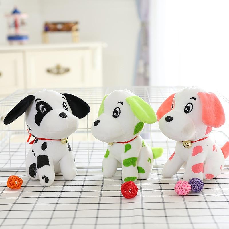18cm Cute kawaii Stuffed Plush Animals Dog doll figure toys juguetes Spotty dog brinquedos kids toys Car decoration Baby toys