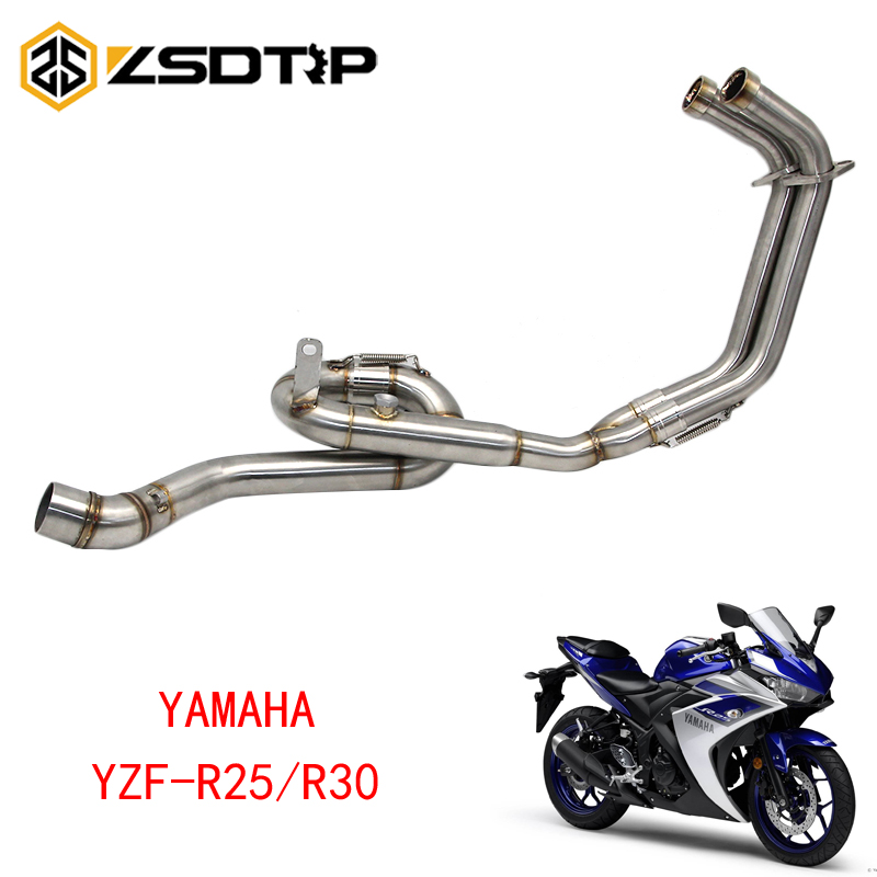 ZSDTRP For Yamaha YZF-R25/R30 MT-03 2014-2016 Motorcycle Exhaust Pipe Muffler Pipe Scooter Exhaust Muffler Middle Pipe new style motorcycle middle exhaust pipe muffler exhaust pipe for ktm duke200 duke390 duke 125 duke 390 2012 2013 2014 12 13 14