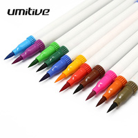 Umitive 36 Color Double Head Marker Colored Hook Line Soft Brush Water Solub Pen School Art Supplies For Painting Drawing Sketch