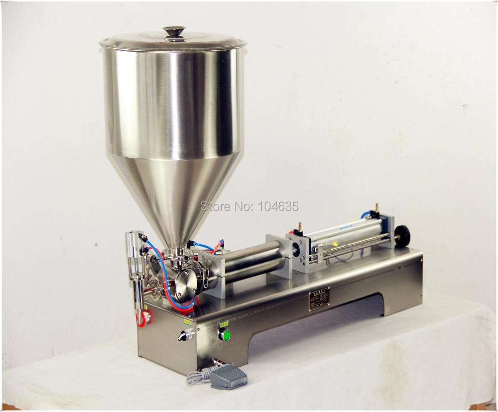 Single Head 100-1000ML shampoo lotion cream honey juice sauce jam gel filler paste filling machine, pneumatic piston filler shampoo lotion cream yoghourt honey juice sauce jam gel filler paste filling machine pneumatic piston filler with free shipping