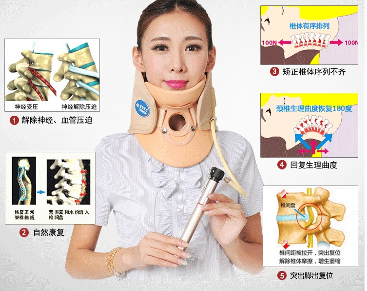 2016 new Neck massager. health care.Cervical therapy instrument.beauty & health. cervical spondylosis treament free shipping