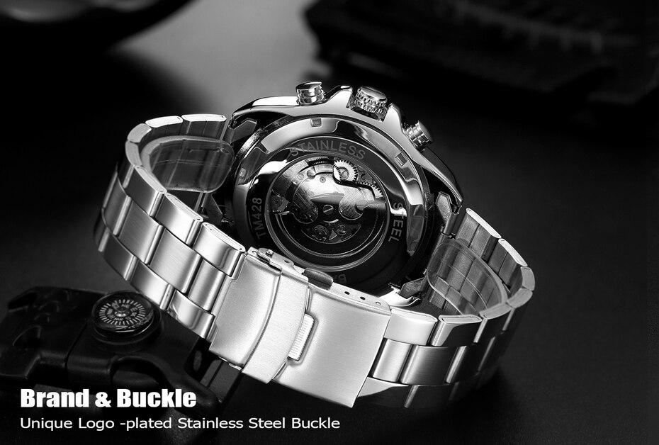 HTB17YwoXLb2gK0jSZK9q6yEgFXaF 2018 WINNER Fashion Design Black mechanical Watch Steel Automatic watch men black stainless steel band business Relogio Male-428