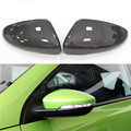 For Volkswagen VW Scirocco CC Passat Jetta 2010- 2016  Without  LaneAssit  Carbon Fiber Mirror 1:1 Replacement or Add On Covers