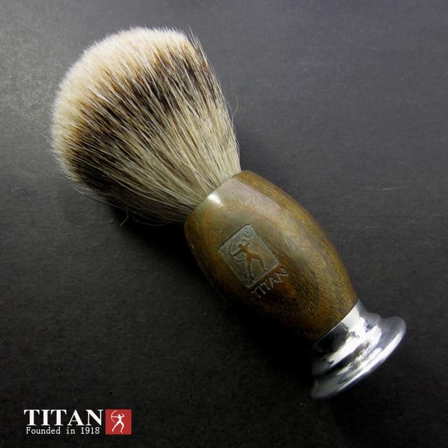 Titan razor brush badger hair brush razor brush