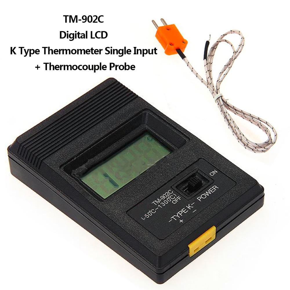 TM-902C (-50C to 750C) Temperature Meter TM902C Digital K Type Thermometer Sensor With Thermocouple Probe k j type single channel thermometer temperature meter tester gauge tm 80n