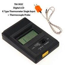 Thermomètre numérique de Type K, TM-902C (-50 °c à °c), capteur avec sonde Thermocouple, TM902C