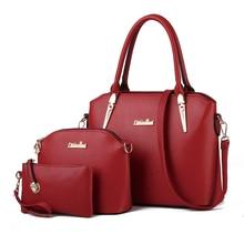 Trendy Composite Bag Three Piece Suit Women Fab Classy Handbag PU Large Bag Ladies Designer Shoulder Bag Casual Crossbody Bag