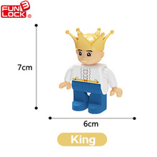 Funlock Duplo Role-play Action Figures Blocks King With Crown Educational Kids Toys