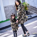 New fashion mom and Girls winter clothes Mother and Daughter matching clothes kids children family clothing  female windbreaker