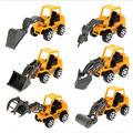 6 pcs Caminhão Max Mini Veículos de Engenharia de Construção Caminhões Atrito Brinquedo Do Carro de Fontes Do Partido