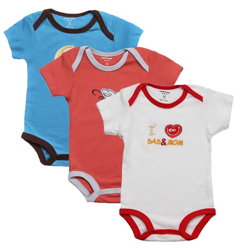 3 Sztuka / partia Baby Rompers Kid Kombinezon Baby Boy Romper - Odzież dla niemowląt - Zdjęcie 5