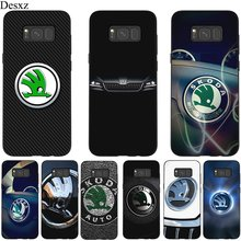 Desxz Silicone Mobile Phone Case For Samsung S6 S7 Edge S8 S9 S10E S10 Plus Cover Skoda Car Logo Bag(China)