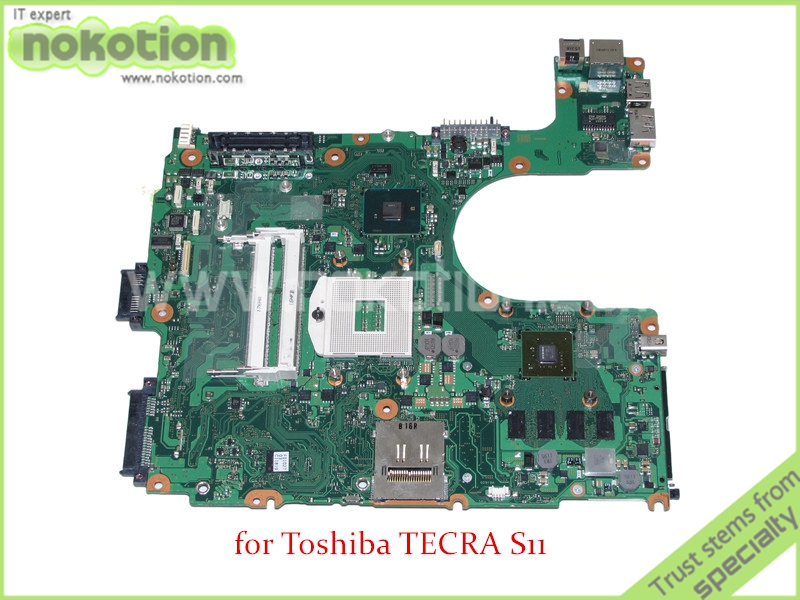 NOKOTION FHVSYC A5A002918010 laptop motherboard for Toshiba Tecra A11 NVIDIA graphics HM55 DDR3 Mainboard nokotion pt10an dsc mb rev 2 1 laptop motherboard for toshiba satellite c50 c50d em2100 cpu amd 216 0841000 ddr3 mainboard