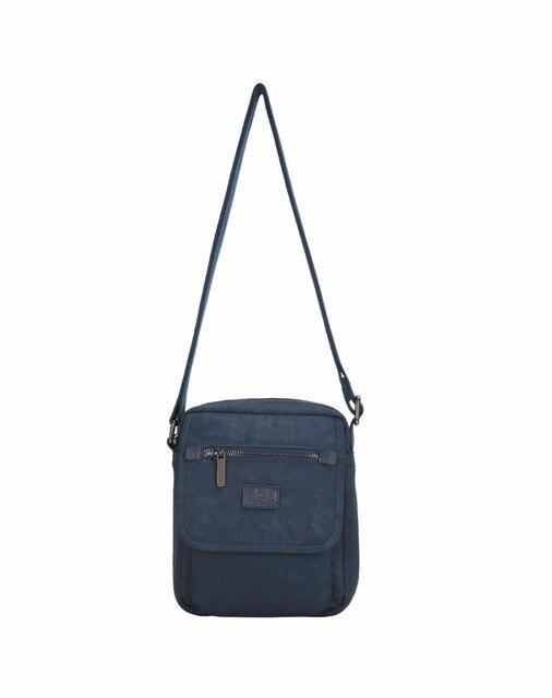 b95422c5 US $69.5 |Germano Brand Small Flap Fashion Rubber Logo Nylon Men Messenger  Bags Many Pockets Navy Leisure 4 Season Multilayer Shoulder Bag-in ...