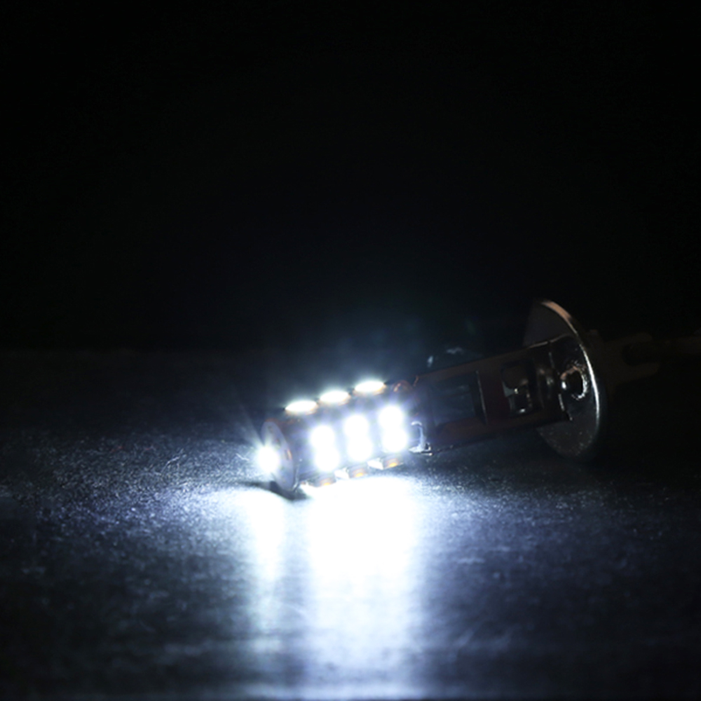 Image 3 - 2Pc High Power H1 HID 25 SMD LED Headlight Lamp Bulb Fog Xenon Pure White Bright 6000K-in LED Bulbs & Tubes from Lights & Lighting