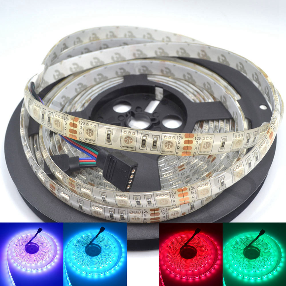 5M 300Leds RGB LED Strip 5050 Vandtæt Fleksibel Led Night Holiday Light Skrivebordslampe DC 12V 44Key IR Fjernbetjening Receiver