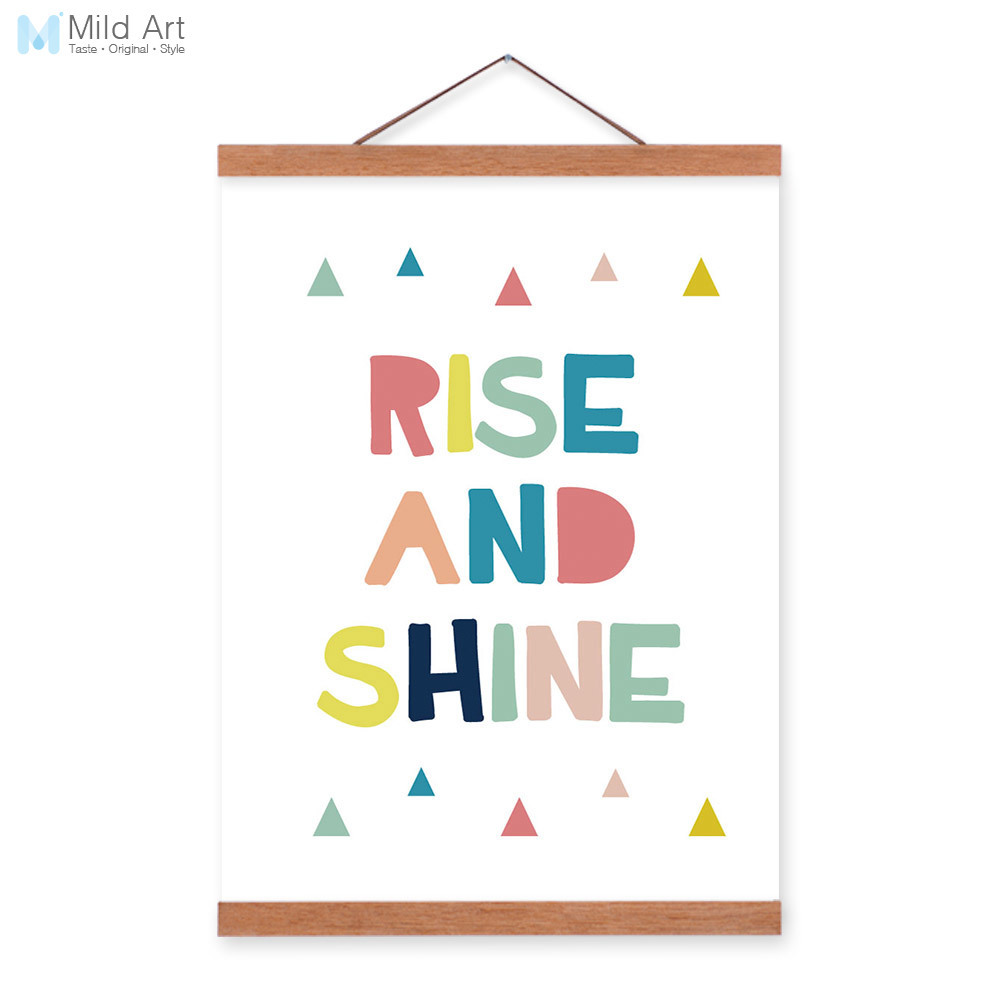 Rise And Shine Quotes Modern Motivational Rise Shine Quotes Wooden Framed Canvas