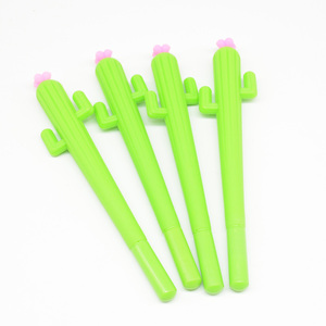 Image 3 - Lápices de Gel con forma de Cactus para hombre y mujer, bolígrafos de Gel con plumas, estilo escolar, Lapiceros Creativos, 60 uds.