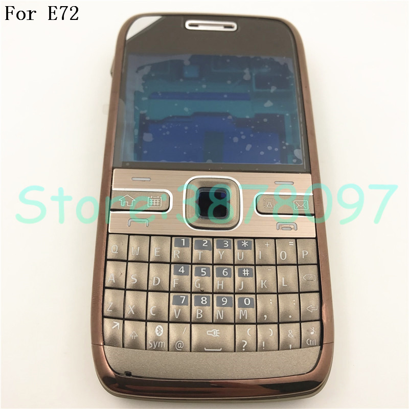 100% Original For Nokia E72 Housing Front Faceplate Frame Cover Case+Back Cover/battery Door Cover+Keypad+Logo