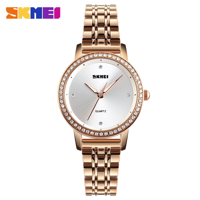 SKMEI Women Luxury Quartz Watch Fashion Business Stainless Steel Strap Ladies Clock Watches Female Top Brand Reloj Mujer 1311