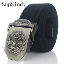 SupSindy cinturón de lona hebilla de la aleación calidad superior tácticos  lona para la correa de los hombres cinturones Casual . ac79d61e3e81