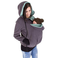 2017 Fall and winter Ms Mon Three in one function kangaroo Hoodies Women's Clothing