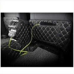 Lsrtw2017 auto di fiber di cuoio sedile anti-kick tappetino per volkswagen tiguan 2016 2017 2018 2019 2020 2nd generation