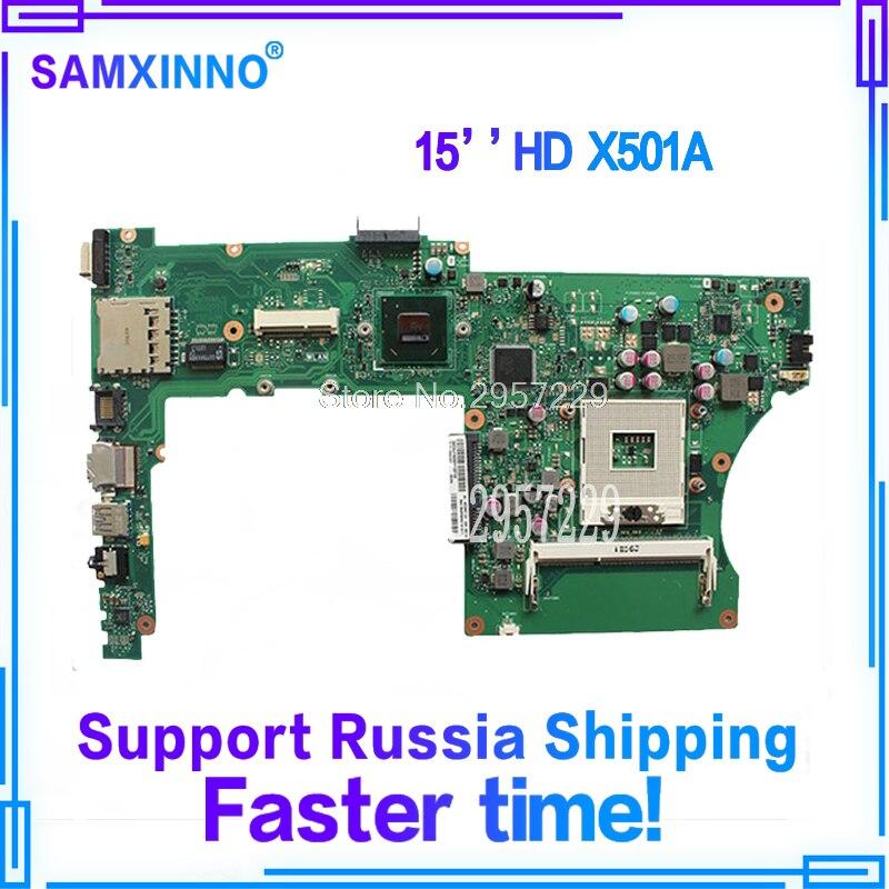 все цены на Original X401A Motherboard For ASUS X401A F401A X501A 15.6 X401A REV2.0 laptop Motherboard HM70 SLJNV Support B820 B920 B940 онлайн
