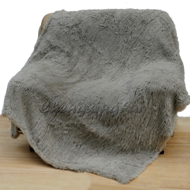 Home & Garden Cx-d-10n Living Room Christmas Throw Knitted Bedroom Rug Real Rabbit Fur Blanket Extremely Efficient In Preserving Heat