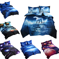 iDouillet 3D Printed Galaxy Bedding Summer Thin Quilt Comforter Sets with 2 Pillow Covers Quilted Coverlet Blanket Full Queen