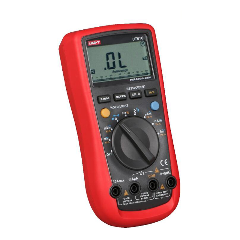 UNI T UT61C Digital Multimeter AC DC Volt Ampere Ohm Meter Capacitance Frequency Diode Duty Cycle Tester in Multimeters from Tools
