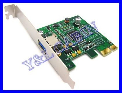 USB 3.0 USB3.0 to PCI-E PCI Express Card Adapter Converter 5.0Gbps, FRESCO LOGIC FL1000, Free Shipping, Brand New