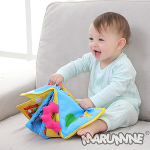 Image 2 - Marumine 3D bébé tissu livre Animal développement doux tissu silencieux livres pour 0 12 mois Kid Intelligence jouets livre de lecture