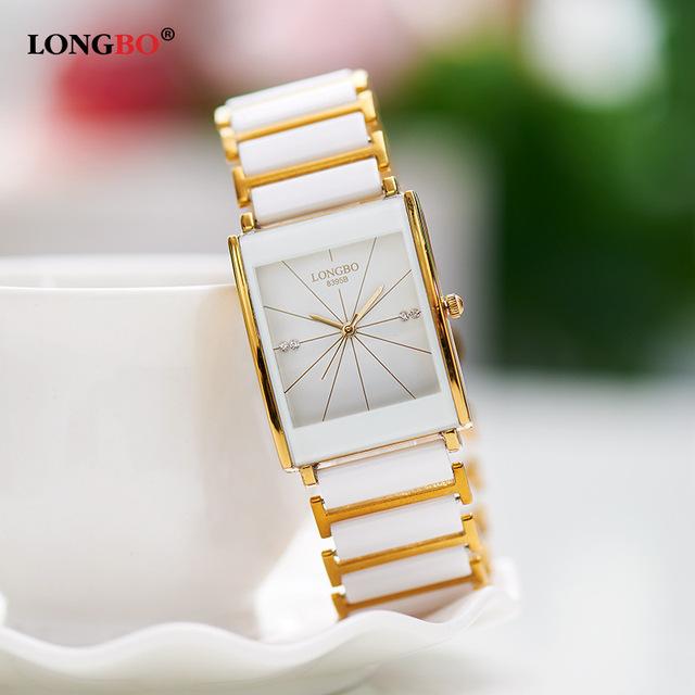 Amantes de La Moda de lujo Vestido de Reloj de pulsera de Cuarzo De Cerámica 30 m Resistente Al Agua Hombres Mujeres de Las Señoras Mujer Hombre Relojes de Negocios Reloj