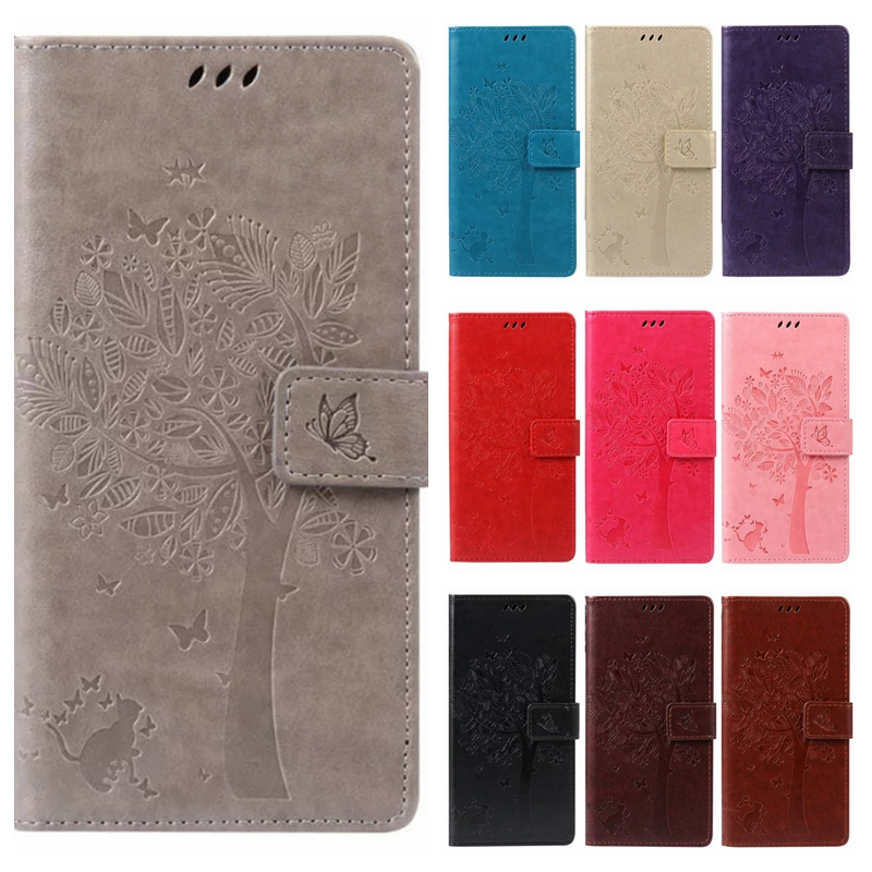 Leather case for coque Samsung Galaxy A3 2015 A300 A300F Case Cover for coque Samsung A3 Tree  Mobile Phone bags+card holder