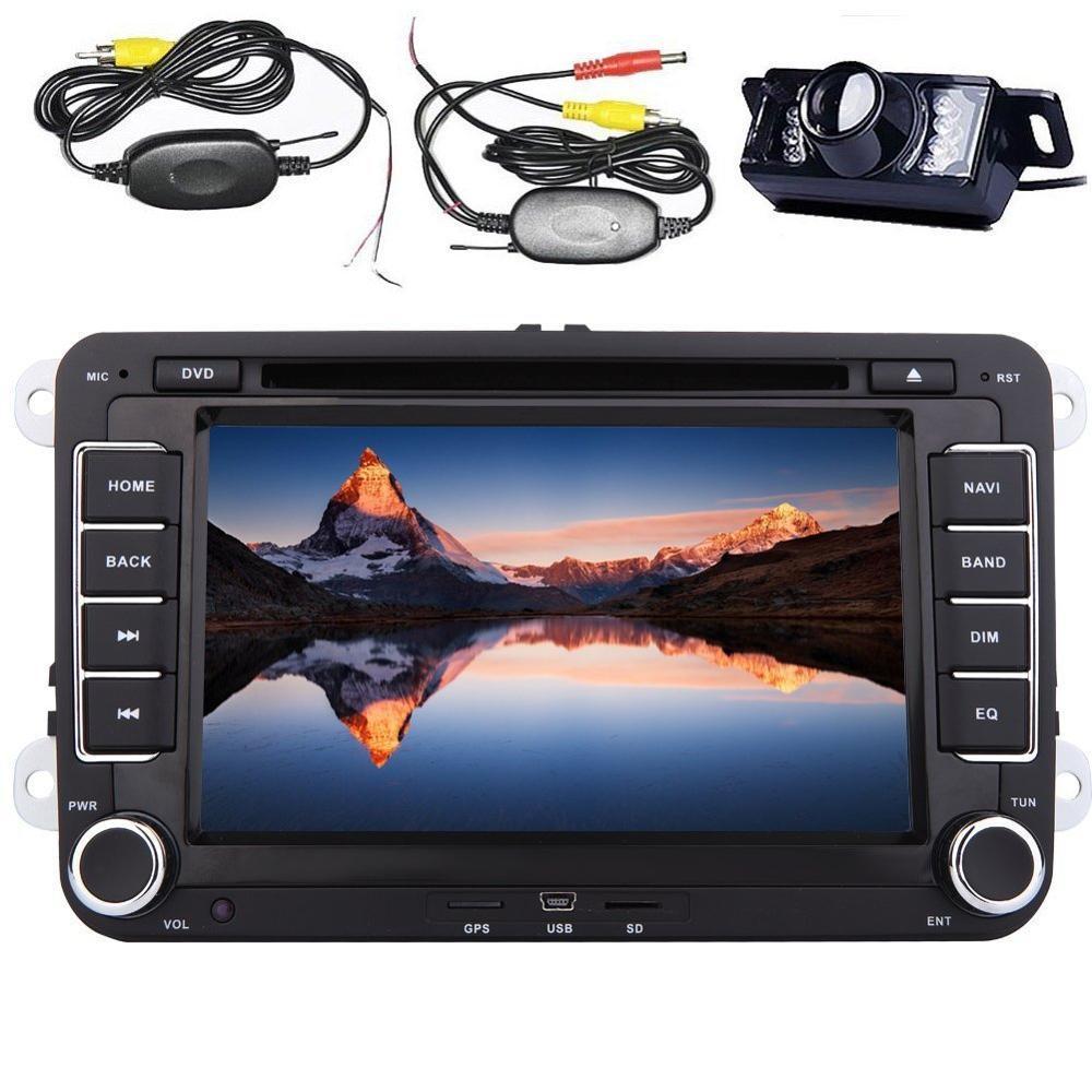 CD DVD Player de Rádio Estéreo de Navegação GPS do carro Para VW MAGOTAN/GOLF/BORA/TOURAN/JETTA/DOCES + câmera traseira + controle de volante