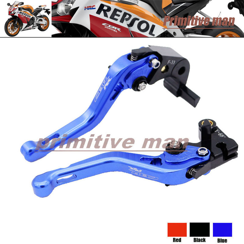 For HONDA CBR1000RR 2008-2013  Motorcycle Short Brake Clutch Levers Blue arashi motorcycle radiator grille protective cover grill guard protector for 2008 2009 2010 2011 honda cbr1000rr cbr 1000 rr