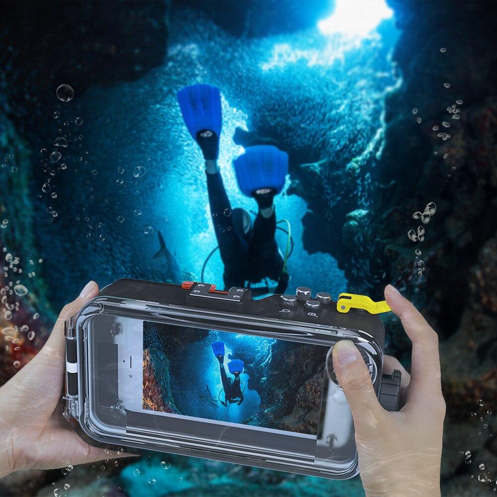 Fonds marins universel Bluetooth boîtier de téléphone portable boîtier sous-marin 40 m photographie pour iPhone Huawei Samsung Xiaomi Smartphone - 6