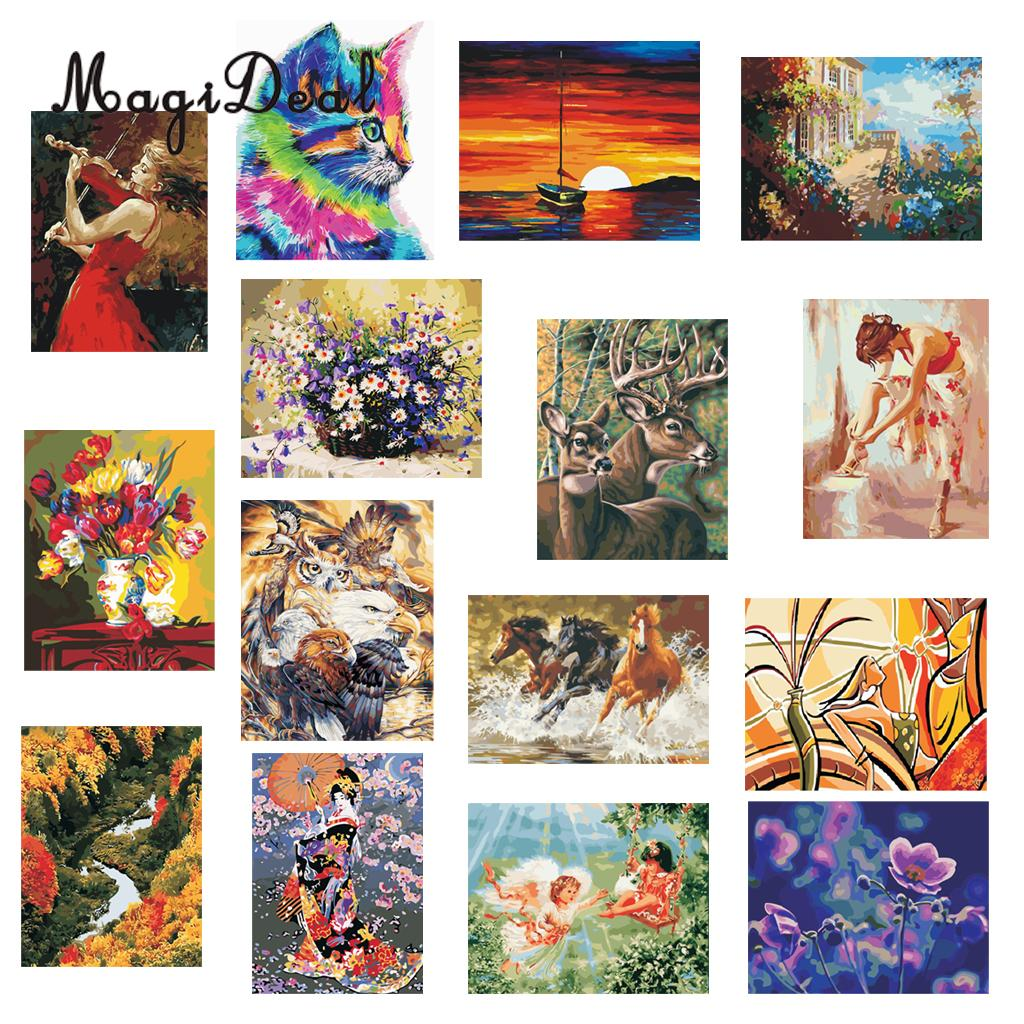b10edd8d 40x50cm DIY Oil Painting Paint by Number Kit for Adult Drawing On ...